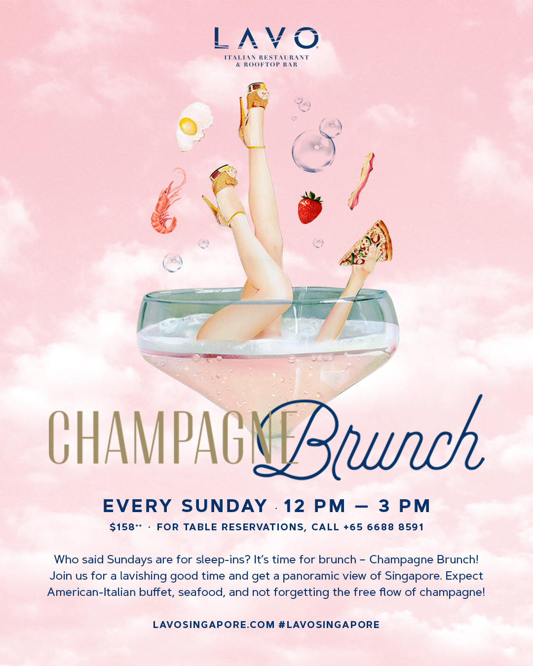 Pleasant Champagne Buffet Brunch Lavo Singapore Beutiful Home Inspiration Papxelindsey Bellcom